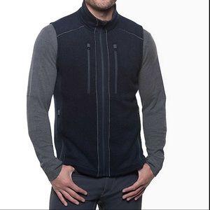 New KUHL Charcoal Fleece INTERCEPTR Vest sz S